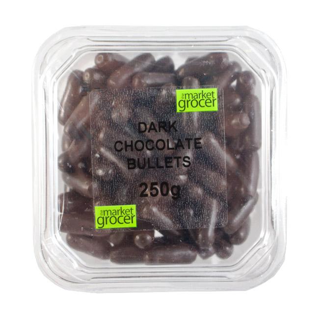 Tubs Dark Chocolate Bullets 250g