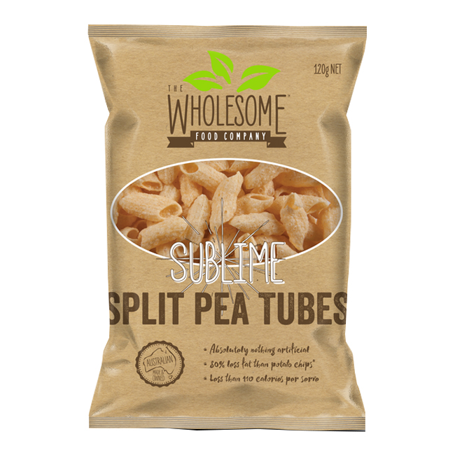 Wholesome Sublime Split Pea Tubes 120g