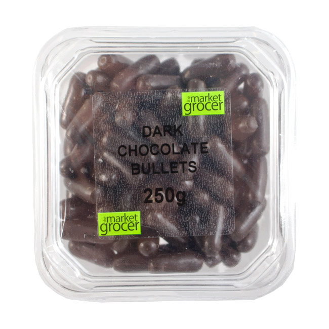 Tubs Dark Chocolate Bullets 250g