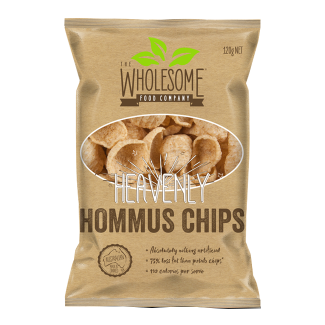 Wholesome Heavenly Hommus Chips 120g